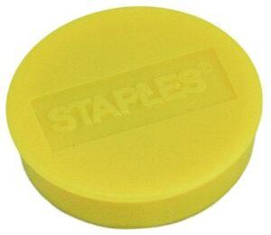 Magneetti_Staples_25mm_keltainen_10_kpl