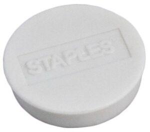 Magneetti_Staples_25mm_valkoinen_10_kpl