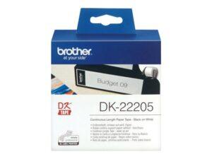 BROTHER_DK-rullatarra_valkoinen_paperi_62mm_30_5m