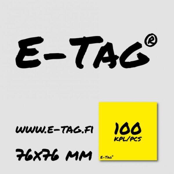 E_Tag_Notes_Muistilappu_76x76_Keltainen__100kpl_
