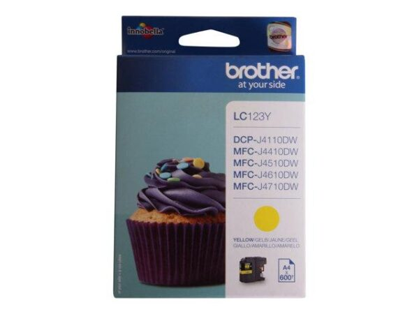 BROTHER_LC-123Y_YELLOW_MUSTEKASETTI