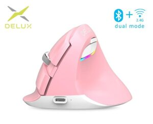 Pystyhiiri_Delux_M618_Mini_Mouse_Wireless__PINKKI