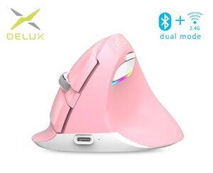 Pystyhiiri_Delux_M618_Mini_Mouse_Wireless__PINKKI